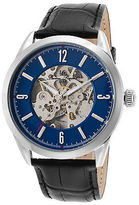 Lucien Piccard 10660A-03 Men's Loft Black Genuine Leather Blue Dial Stainless