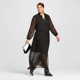 Women's Plus Size Ruffle Neck Maxi Dress - Who What Wear