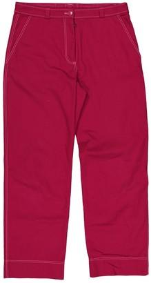 Koché Red Cotton Trousers for Women