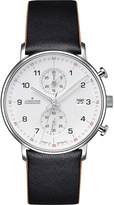 Junghans 041/4770.00 Form-C stainless steel and leather chronograph watch