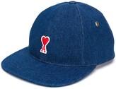 Ami Paris Baseball Cap With De Coeur Patch