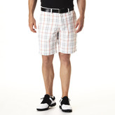 Haggar C18 Golf Shorts, Plaid - Athletic Fit, Flat Front