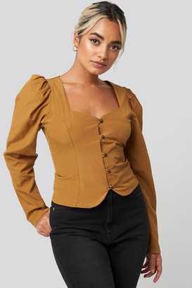Trendyol Front Bead Detail Blouse Brown