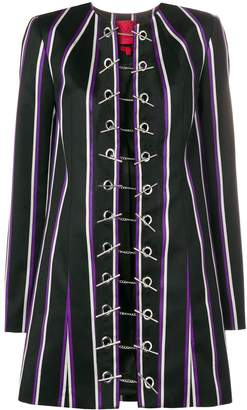 Margaux Rouge striped toggle coat