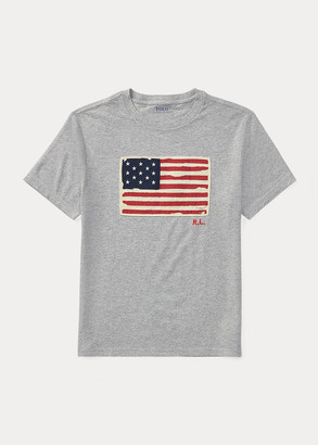 Ralph Lauren Flag Cotton Jersey Tee