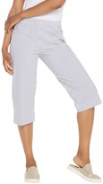 Factory Quacker Pull-On Seersucker Capri Pants with Pockets