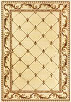 """Kas Corinthian 5318 Ivory Fleur-de-Lis 3'3"""" x 4'11"""" Area Rug"""