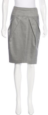 Giambattista Valli Virgin Wool & Silk-Blend Skirt