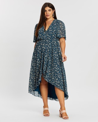 Atmos & Here Evelyn High-Low Midi Dress