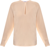 Givenchy Pearl-button silk blouse