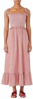Mini Gingham Smocked Dress