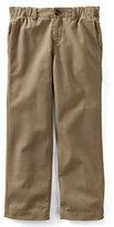 Classic Boys Husky Iron Knee Plain Front Pull-on Pants-Light Beige
