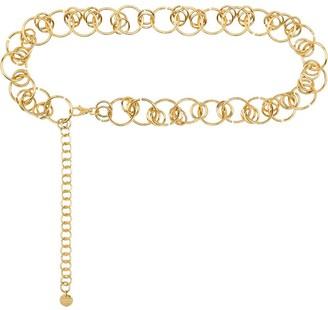 Black & Brown Hera chain link belt