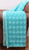 Pier 1 Imports Sally Waves Turquoise Brushed Faux Fur Decorative Throw