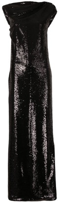 ATTICO Sequin Embellished Gown