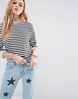 Reclaimed Vintage Breton Stripe Long Sleeve Top