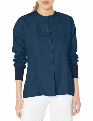 Fashion Seal Healthcare Women's Ladies Navy Simply Soft Warm Up Jacket L