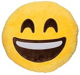 Want Funny Emoji Pillow Cushions Lovely Round Facial Expression Pillow Toys Yellow Plush Toys Kids Gift Sofa Decoration Pillows (Laugh)