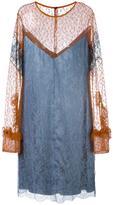 Nina Ricci floral lace shift dress - women - Polyamide - 36