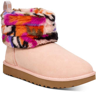 UGG Women Fluff Mini Quilted Boots