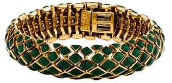 David Webb 18K Enamel Harlequin Bracelet