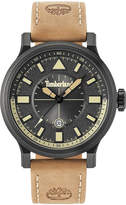 Timberland Men's Driscoll Light Brown Leather Strap Watch 46mm