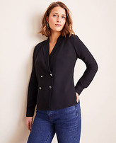 Ann Taylor Petite Double Breasted Blouse