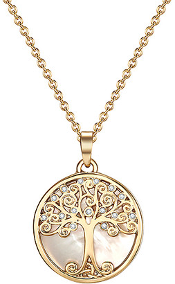 Willow Tree Mestige Women's Necklaces GOLD of Life Pendant Necklace With Swarovski Crystals