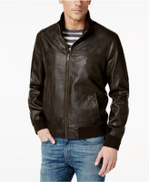 Tommy Hilfiger Big & Tall Faux-Leather Stand-Collar Bomber Jacket