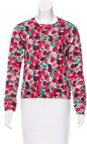 Marc Jacobs Floral Print Crew Neck Sweater