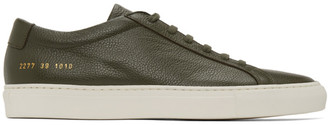 Common Projects Green Pebbled Achilles Low Sneakers