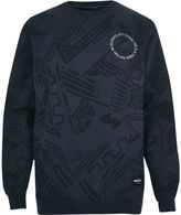River Island MensNavy RAREGOODS.CO badge print sweatshirt