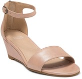 Eileen Fisher Mara Leather Ankle Strap Wedge Sandal