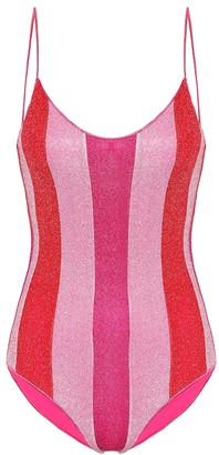 Oseree Exclusive to Mytheresa Lumiere striped swimsuit
