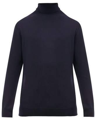 A.P.C. Roll-neck Merino-wool Sweater - Mens - Navy