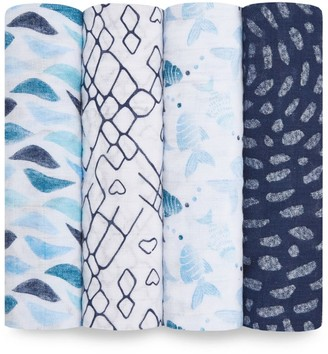 Aden Anais aden + anais Gone Fishing Muslin Swaddle (Pack of 4)