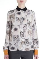 Stella McCartney Wilson Silk Cat Print Blouse