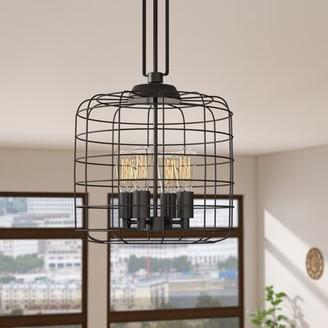 Trent Austin Design Kawah 4 - Light Lantern Drum Pendant