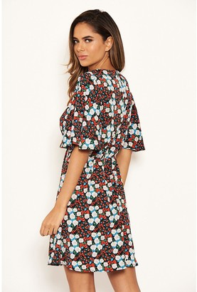 AX Paris Floral Day Dress - Red