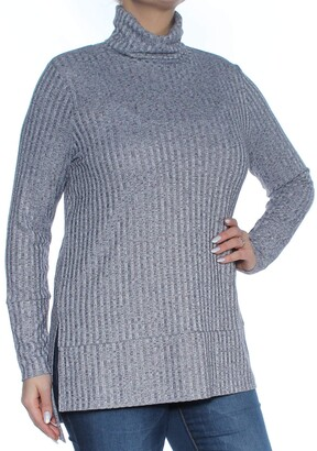 Kensie Women's Rayon Rib Top with Cowl Neck