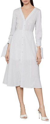 BCBGMAXAZRIA Cotton Stripe Shirt Dress