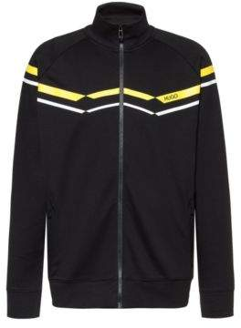 Oversize-fit sweatshirt with retro zigzags in cotton blend