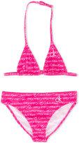 Calvin Klein Kids - logo print bikini - kids - Polyamide/Spandex/Elastane - 10 yrs