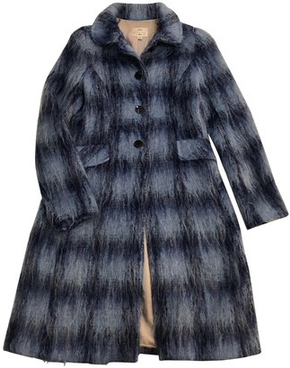 Tocca Blue Wool Coat for Women