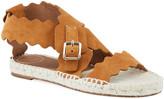 Chloé Lauren Flat Suede Wrap Sandals