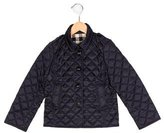 Burberry Girls' Quilted Nova Check-Lined Jacket