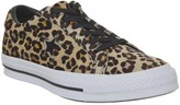 Converse One Star Trainers Leopard Black White
