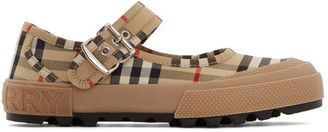 Burberry Beige Elstead Mary Jane Ballerina Flats