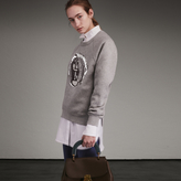 Burberry Unisex Brushed-back Jersey Sweatshirt with Pallas Heads Motif