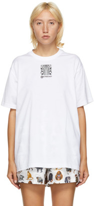 Burberry White Carrick Zebra Eyes T-Shirt